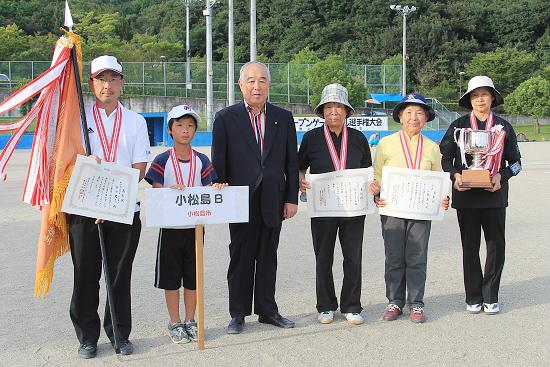 優勝した小松島Bチーム