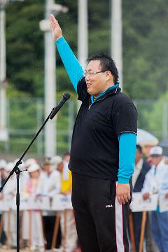 オーロラ(香川県)の吉田知広選手による選手宣誓